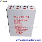 Ciclo de profunda Gel Tubular pilhas solares 2volt bateria Opzv 3000AH