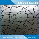 塗られるガラス装飾的なガラス黒いパターン