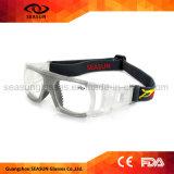 La visione all'ingrosso della fabbrica HD mette in mostra gli occhiali di protezione protettivi di Eyewear di pallacanestro
