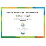 Openlucht WPC Houten Plastic Samengestelde Co-extrusie Decking voor Bevloering