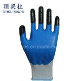 Nylon перчатки безопасности 13G с усиленными перстом перчатками нитрила Coated
