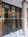 大きいWindowsが付いている現代様式の錬鉄のドア