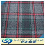 Tartan convenant, tissu de laine peignée tissu tartan, mélange de polyester tissu de laine