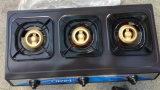 Tre fornello di gas della protezione di Gloden del ferro di lunghezza dell'acciaio inossidabile 710mm dei bruciatori (JP-GC303)
