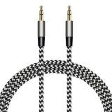 Tecido trançado Wholesales de alta qualidade de áudio Aux