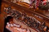 Europäische Art-Antike geschnitzter festes Holz-Kamin-Kaminsims