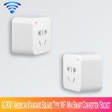 Ac-9001 de Amerikaanse Standaard Vierkante Convertor/de Contactdoos van WiFi van het Type Mini Slimme