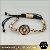 Mens-kundenspezifisches Loog graviertes Armband, kundenspezifisches umsponnenes Armband Msbb026