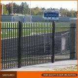 1,83*2.5m negro paneles de cercado de seguridad de acero Industrial