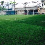 La parte superior de alta calidad forma 11000S dtex campo de fútbol de césped Césped artificial para la venta