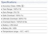 Corrosion-Resisting digital inalámbrico de alta resistencia grúa escala