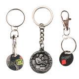 주문 로고 디자인 금속 이름 승화 공백 Keychain 또는 열쇠 고리