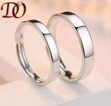 Custom 925 Серебряное кольцо родием высшего качества с позолоченными контактами Silver свадебные кольца