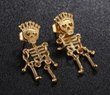 2018 de hete Oorringen van de Juwelen van de Fietser van de Oorringen van de Nagel van de Schedel van het Skelet van de Manier In het groot Antieke Uitstekende Punk voor de Gift van Vrouwen