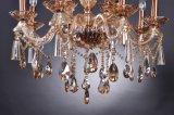 Golden lustre en cristal avec décoration en verre