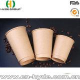 8 Oz Kraft desechables de papel de pared doble taza de café caliente