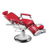 Rote Hochleistungsherrenfriseur-Stuhl-mehrfache Chrom-Salon-Möbel