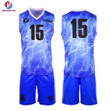 Basquetebol Sublimação personalizado Jersey Sportswear Última barato uniformes de basquete