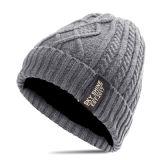 Связанный жаккард изготовленный на заказ отдыха крышки акриловый резвится шлем Beanie зимы человека