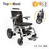 Poids léger superbe pliant des prix de fauteuil roulant d'énergie électrique