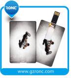 O logotipo do presente da companhia imprimiu a movimentação do flash do USB do cartão de crédito