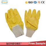 Золотой нитриловые перчатки труда работающих с покрытием для промышленности (СВК-409H)