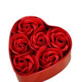 Vendas quentes roxas e caixa branca do metal do presente da flor das rosas da cor 6 (YB-GF-467)