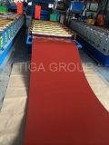 Colorir o metal ondulado antigo que telha a telha de telhado vitrificada vermelha de PPGI