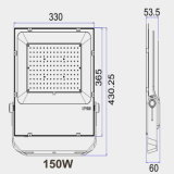 Driver Chipset Bridgelux Meanwell SMD3030 150W Holofote LED com 5 anos de garantia