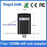Dongle de alta velocidade do USB 3.0 WiFi de 11AC 1200Mbps com a antena 2dBi/5dBi externa para a caixa Android da tevê