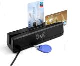 4 en 1 pistas de banda magnética de 3 Lector de tarjetas EMV Cbip Codificador de escritor y lector de tarjetas con el Software Libre y SDK