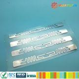 Étiquette passive de papier blanc d'IDENTIFICATION RF de la fréquence ultra-haute Aln9740 d'ISO18000-6C Higgs 3