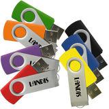 El disco de encargo promocional del USB del mecanismo impulsor del flash del USB que gira sobre un eje gira el USB