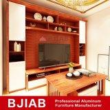 Moderna casa personalizada de muebles de roble blanco aluminio Soporte de TV