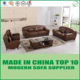 Amerikanisches modernes italienisches echtes Leder-Freizeit-Couch-Sofa