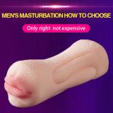 Sex-Shop 3D de doble cabeza coño realista vagina artificial el sexo oral masculino Copa Masturbators de juguete coño adulto del sexo oral juguetes para el hombre