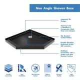 Base acrilica personalizzata dell'acquazzone su qualsiasi colore