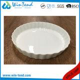Assiette blanche de secteur de porcelaine d'usine en gros