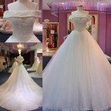 Выключение взять на себя жемчужины Ballgown устраивающих платье свадебные платья