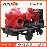 6-дюймовый сельскохозяйственных ирригационных систем подвижной дизельного двигателя водяного насоса