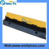 3つのチャネルケーブルの傾斜路ゴム製物質的なケーブルの保護装置は容易に接続する