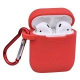 Cassa rossa Premium della copertura del silicone con Carabiner per Apple Airpods