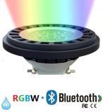 Proyector del CREE LED de AR111 Bluetooth RGBW para la iluminación IP67 del paisaje