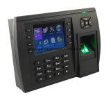 Tiempo de lector de huellas digitales biométrico de asistencia (TFT500).