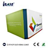 Карточка LCD 2.4 дюймов видео- названная для дела