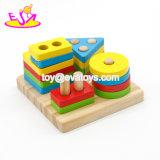Neues heißestes pädagogisches Baby-hölzerne Spielwaren für das Lernen der Form W13D163