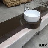 Moderne Countertop van de Oppervlakte van het Ontwerp Witte Stevige Wasbak