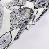 Das neue Druck-Blumen-Gewebe durch Velvet (FEP018)