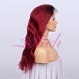 Top Venda #1b Burg peruano da onda do corpo de cor de cabelo humano peruca