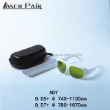 laser do Alexandrite 755nm com O ND 1064nm: Óculos de proteção de segurança do laser de YAG para o equipamento médico do laser, sistemas do laser da beleza